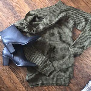 Olive off shoulder sweater  NWT !